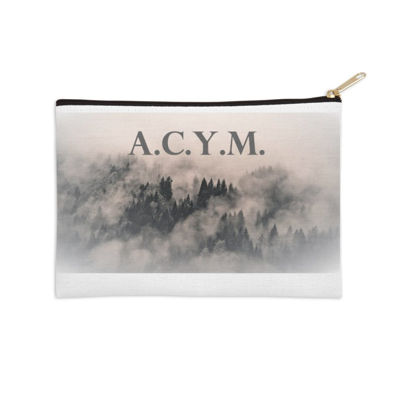 Foggy Forest Accessories Zip Pouch by Acraftyimama's Artist Shop
