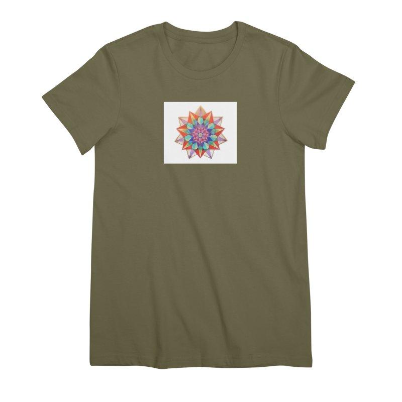 Geometric Women's Premium T-Shirt by Acraftyimama's Artist Shop