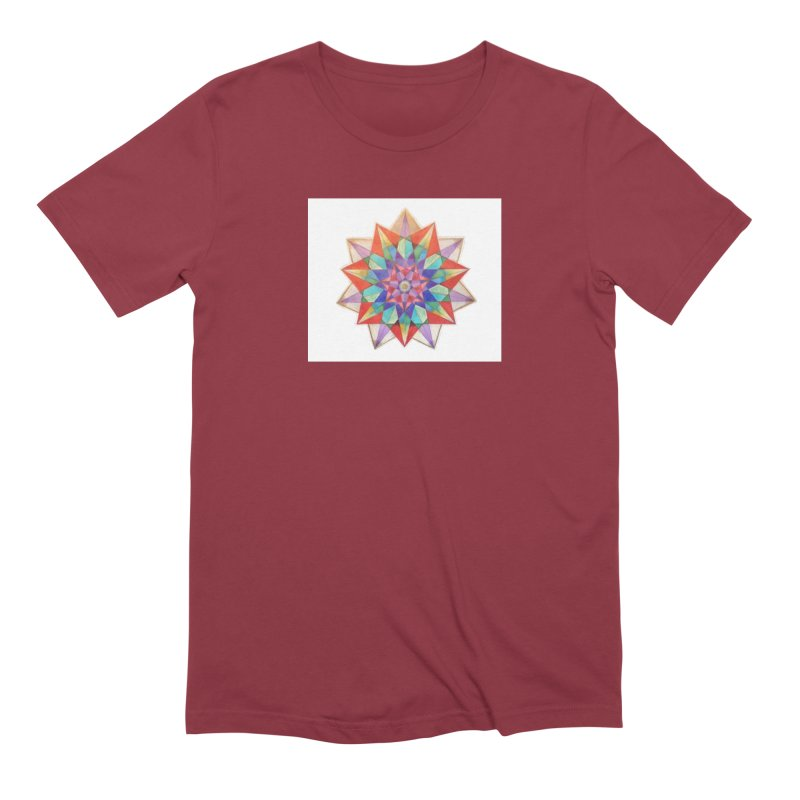 Geometric Men's Extra Soft T-Shirt by Acraftyimama's Artist Shop