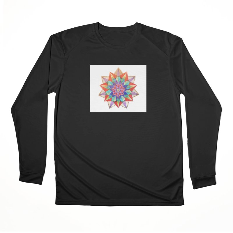 Geometric Women's Performance Unisex Longsleeve T-Shirt by Acraftyimama's Artist Shop