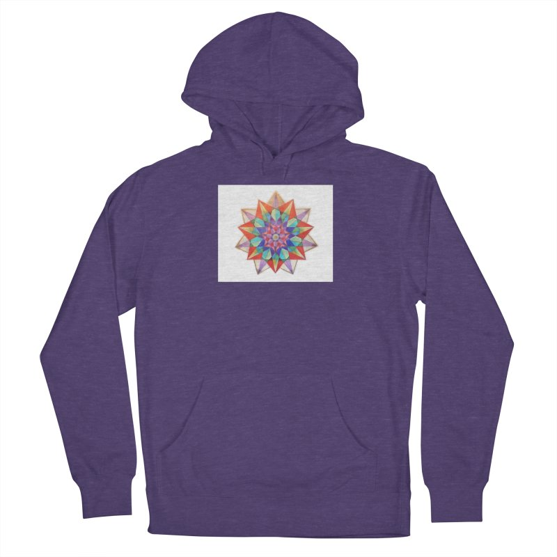 Geometric Women's French Terry Pullover Hoody by Acraftyimama's Artist Shop