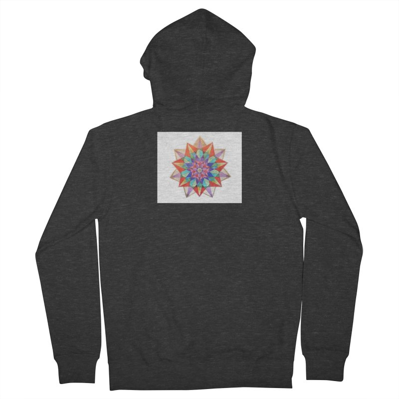 Geometric Women's French Terry Zip-Up Hoody by Acraftyimama's Artist Shop