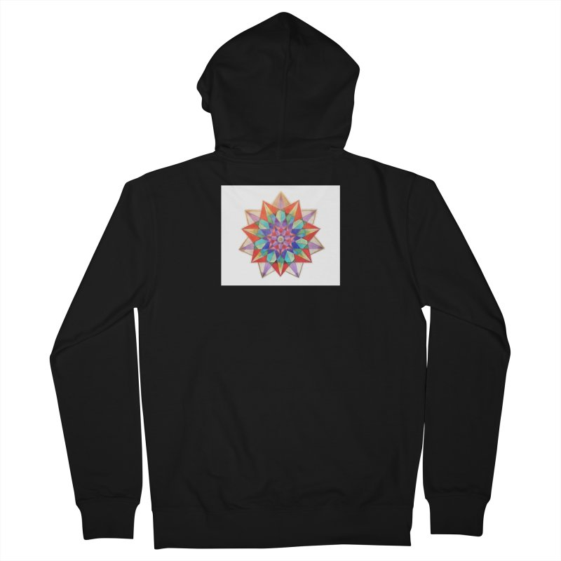 Geometric Men's French Terry Zip-Up Hoody by Acraftyimama's Artist Shop