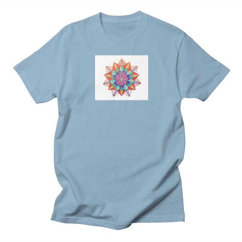 Geometric Men's Regular T-Shirt by Acraftyimama's Artist Shop