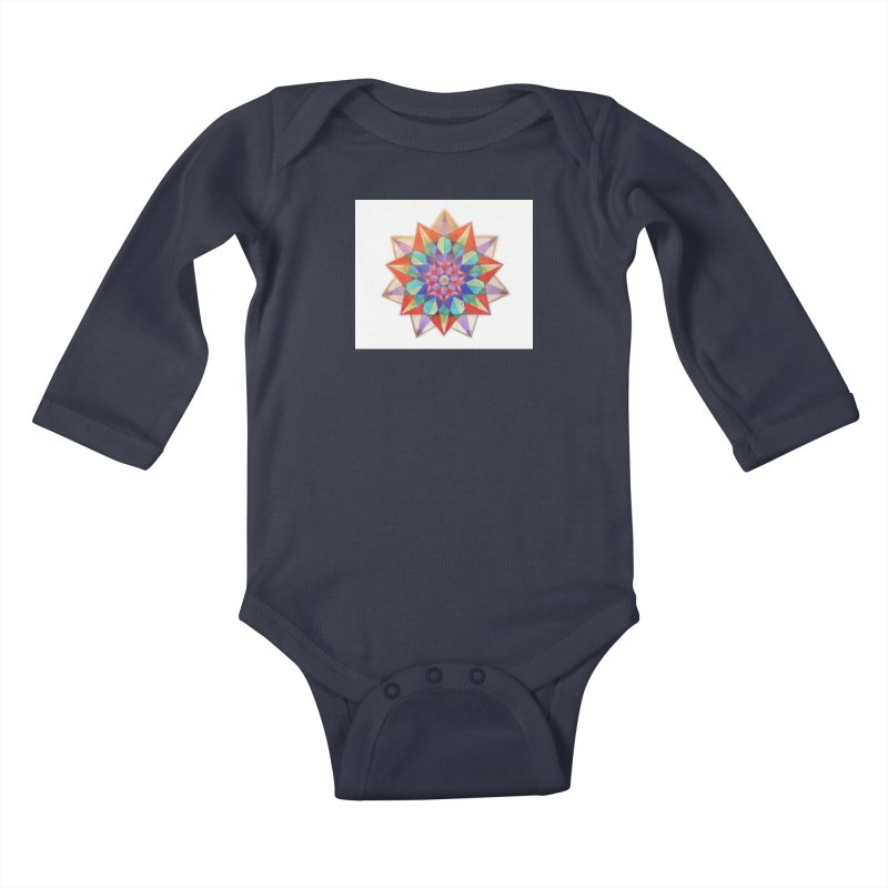 Geometric Kids Baby Longsleeve Bodysuit by Acraftyimama's Artist Shop