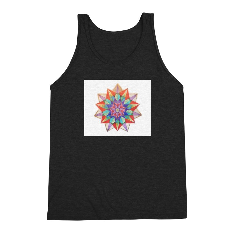 Geometric Men's Triblend Tank by Acraftyimama's Artist Shop