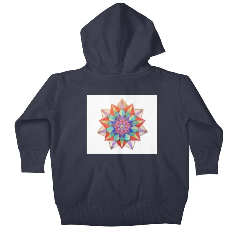 Geometric Kids Baby Zip-Up Hoody by Acraftyimama's Artist Shop
