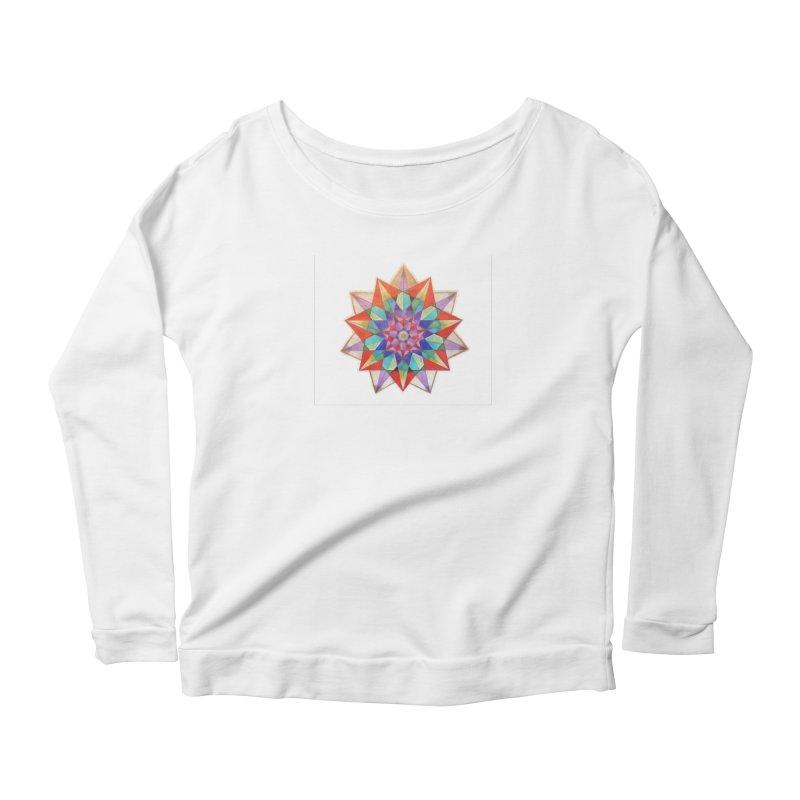 Geometric Women's Scoop Neck Longsleeve T-Shirt by Acraftyimama's Artist Shop