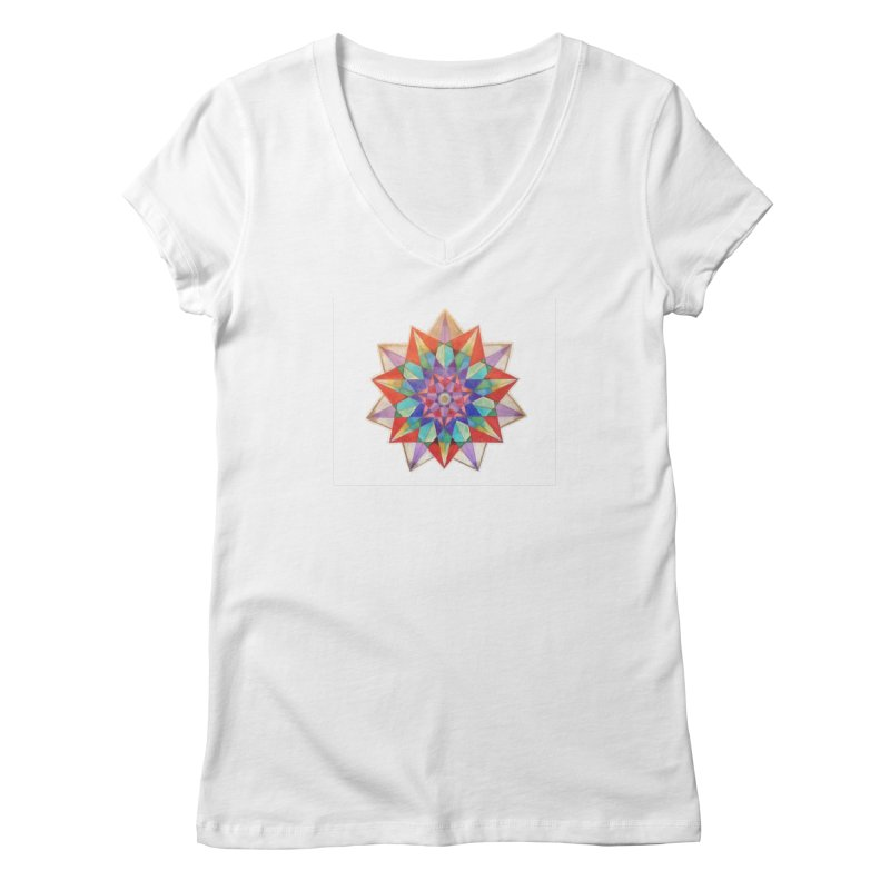 Geometric Women's Regular V-Neck by Acraftyimama's Artist Shop
