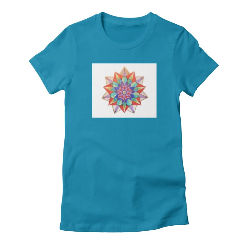 Geometric Women's Fitted T-Shirt by Acraftyimama's Artist Shop