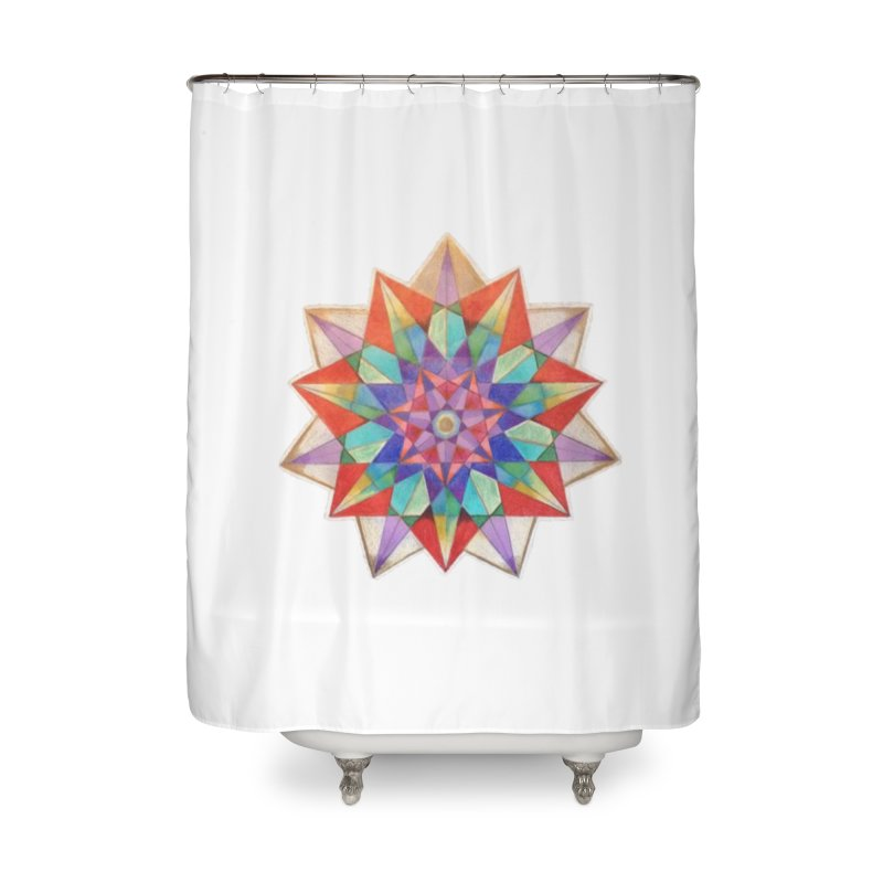 Geometric Home Shower Curtain by Acraftyimama's Artist Shop