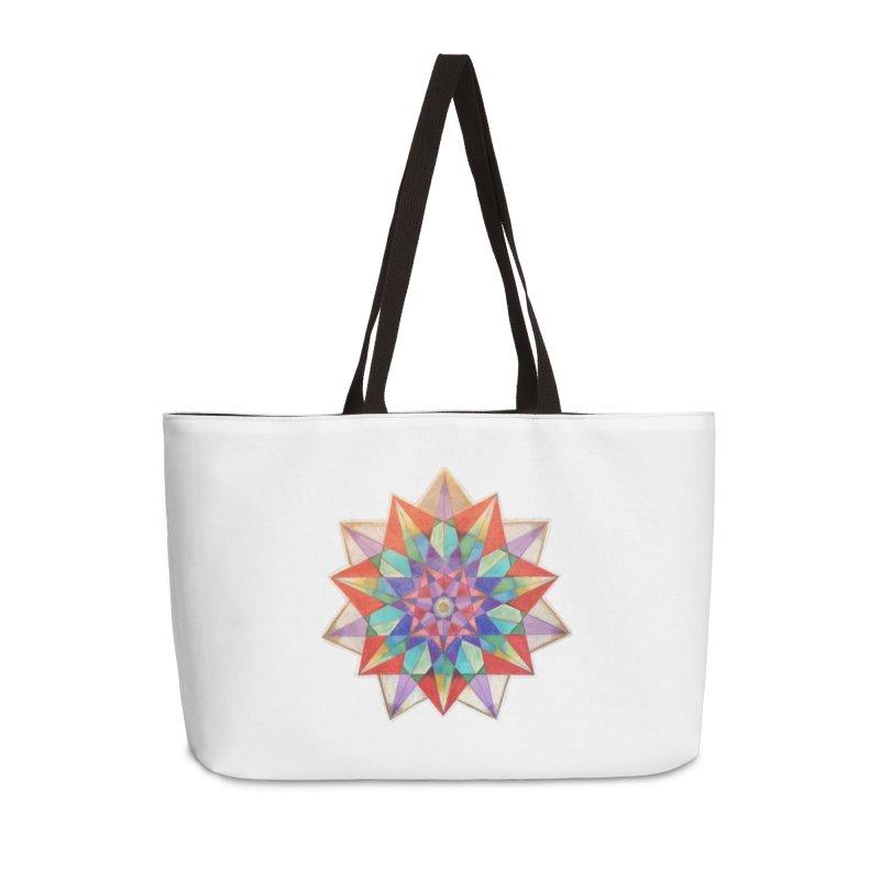 Geometric Accessories Weekender Bag Bag by Acraftyimama's Artist Shop