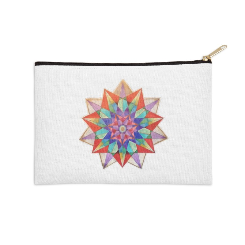 Geometric Accessories Zip Pouch by Acraftyimama's Artist Shop