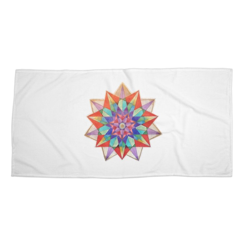 Geometric Accessories Beach Towel by Acraftyimama's Artist Shop