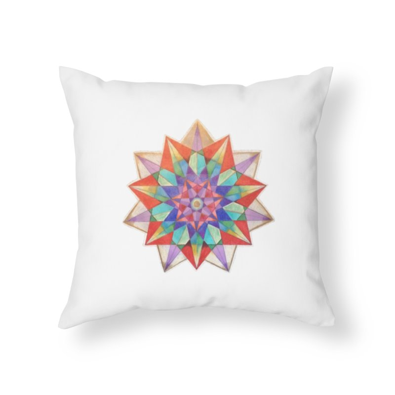 Geometric Home Throw Pillow by Acraftyimama's Artist Shop