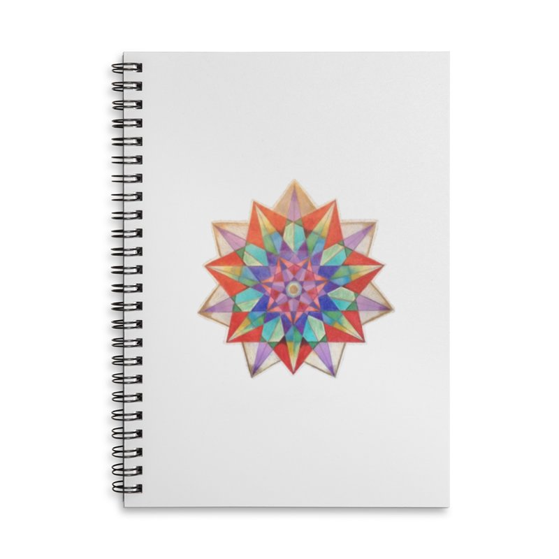 Geometric Accessories Lined Spiral Notebook by Acraftyimama's Artist Shop