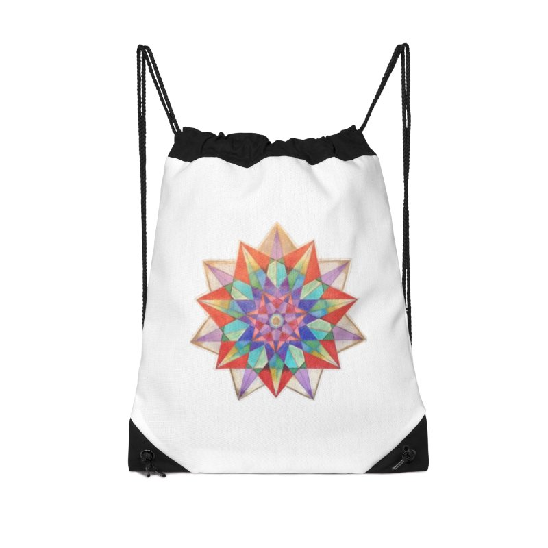 Geometric Accessories Drawstring Bag Bag by Acraftyimama's Artist Shop