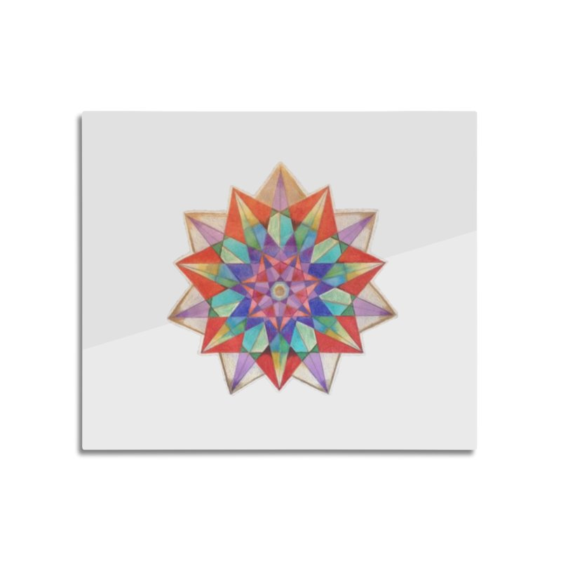 Geometric Home Mounted Aluminum Print by Acraftyimama's Artist Shop