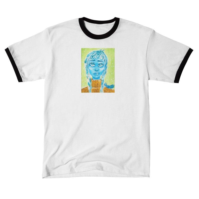 Blue Girl Men's T-Shirt by AcrylicArtisan's Artist Shop