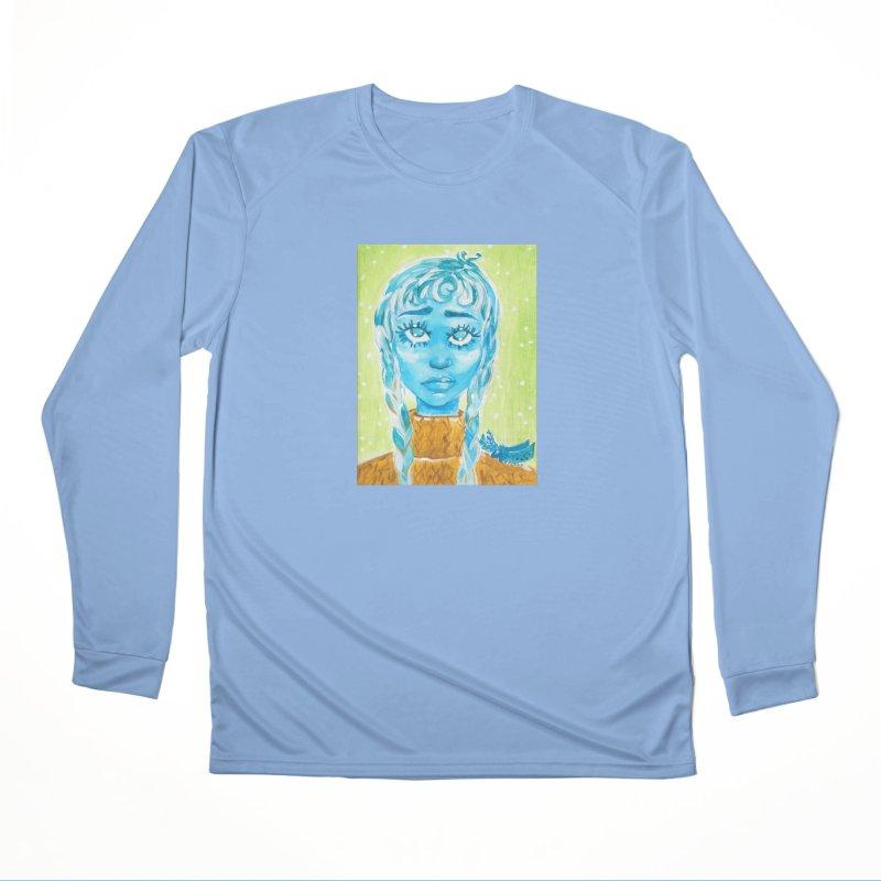 Blue Girl Women's Longsleeve T-Shirt by AcrylicArtisan's Artist Shop