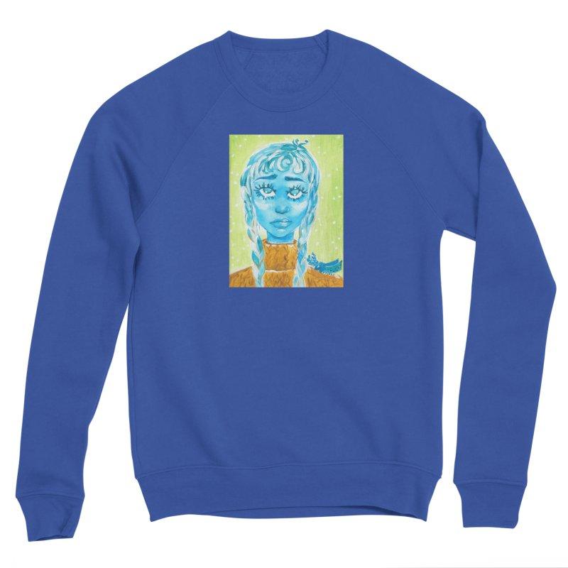 Blue Girl Women's Sweatshirt by AcrylicArtisan's Artist Shop