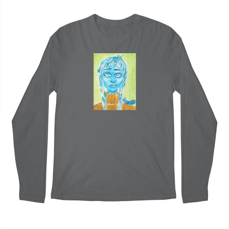 Blue Girl Men's Longsleeve T-Shirt by AcrylicArtisan's Artist Shop