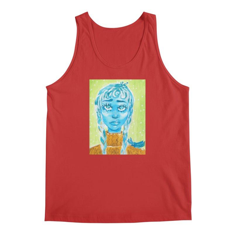 Blue Girl Men's Tank by AcrylicArtisan's Artist Shop