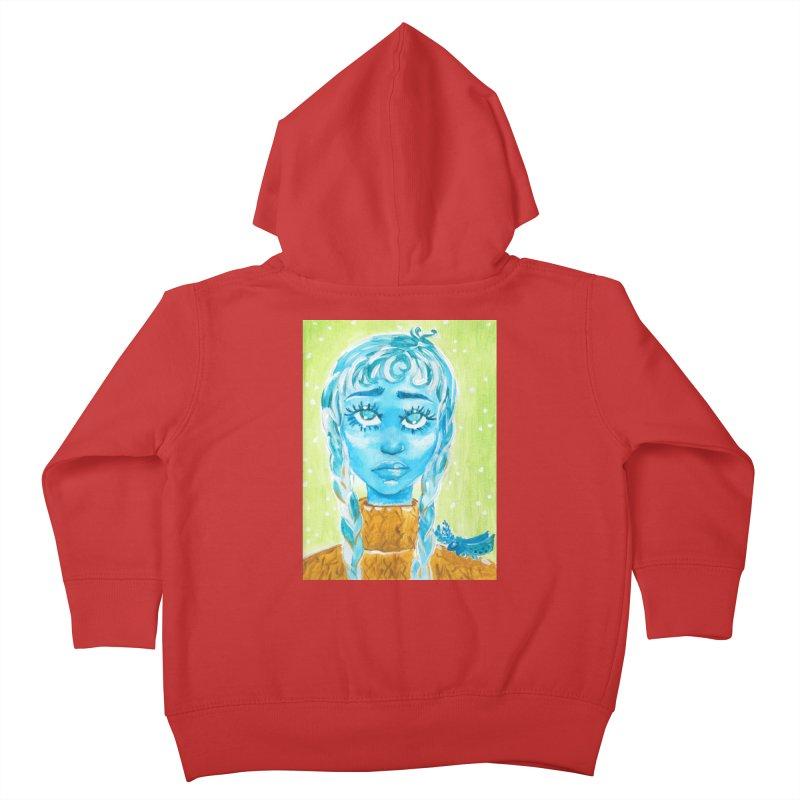 Blue Girl Kids Toddler Zip-Up Hoody by AcrylicArtisan's Artist Shop