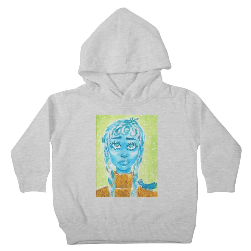 Blue Girl Kids Toddler Pullover Hoody by AcrylicArtisan's Artist Shop