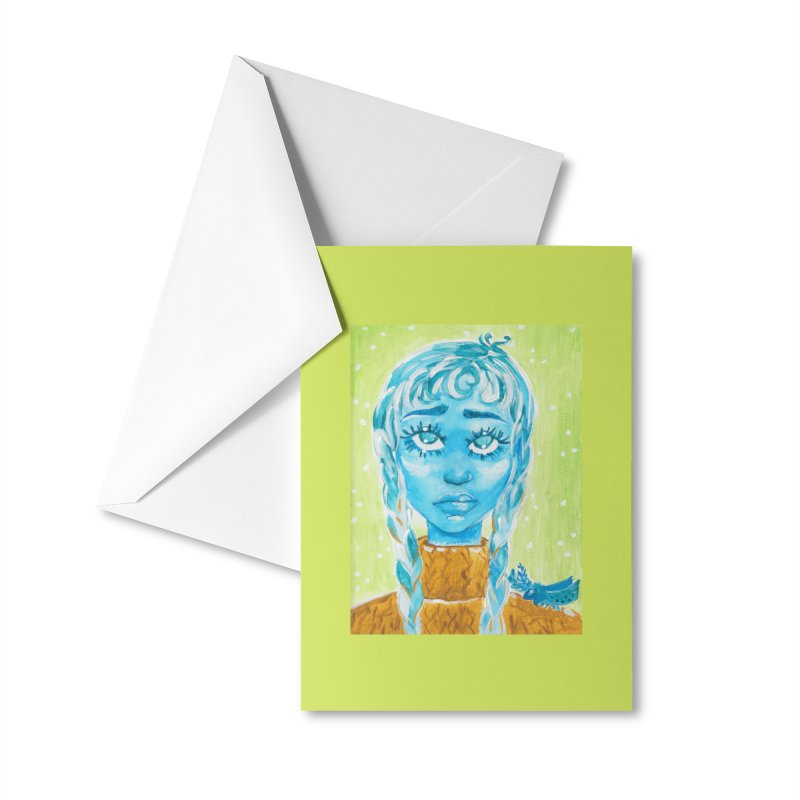 Blue Girl Accessories Greeting Card by AcrylicArtisan's Artist Shop