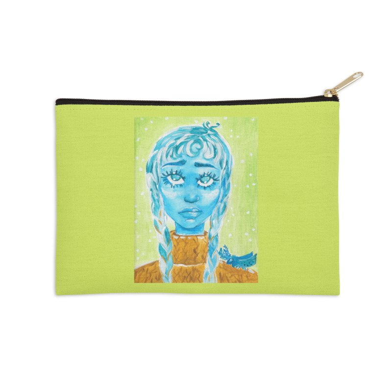 Blue Girl Accessories Zip Pouch by AcrylicArtisan's Artist Shop