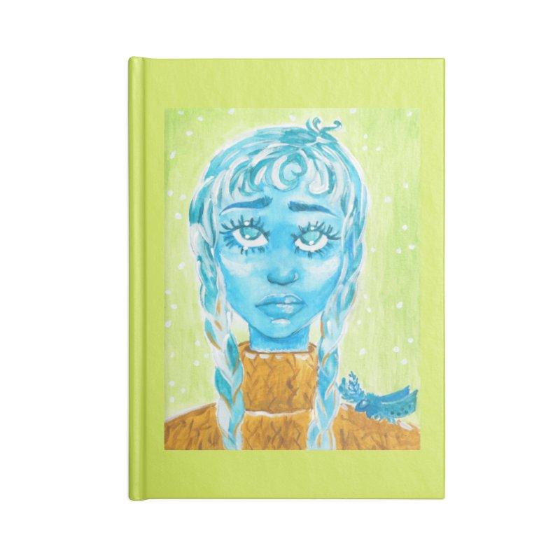 Blue Girl Accessories Notebook by AcrylicArtisan's Artist Shop