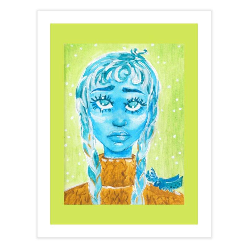 Blue Girl Home Fine Art Print by AcrylicArtisan's Artist Shop