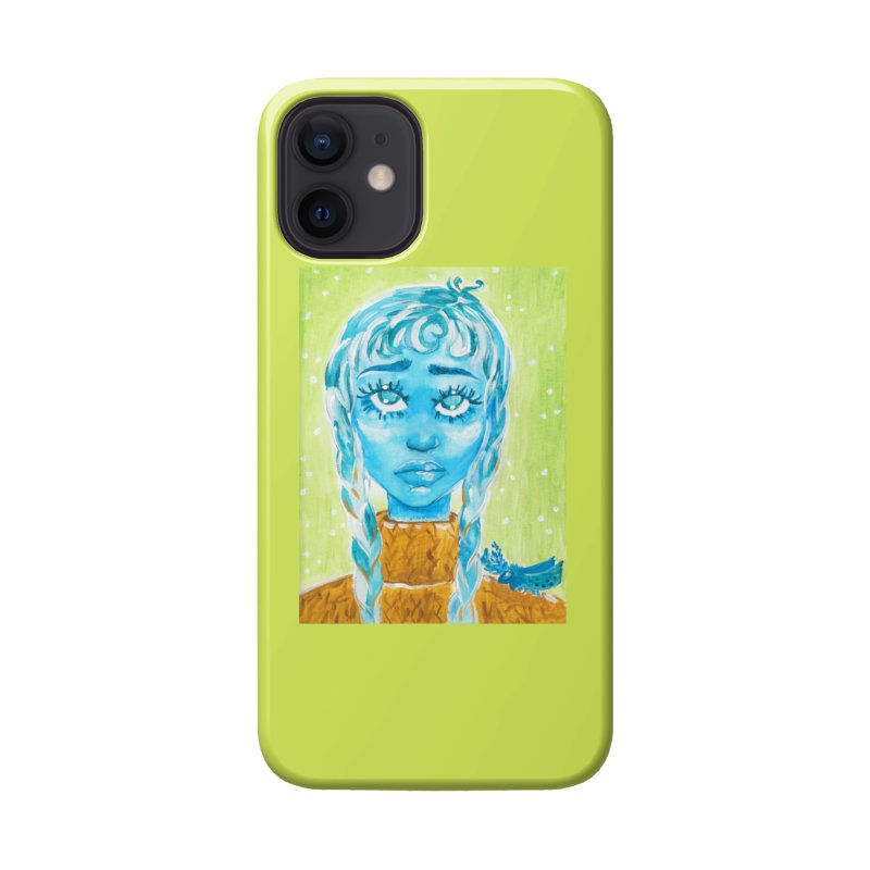 Blue Girl Accessories Phone Case by AcrylicArtisan's Artist Shop