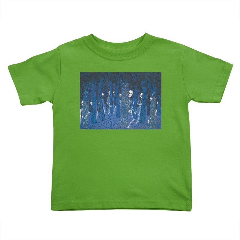 Skeleton Forest Kids Toddler T-Shirt by AcrylicArtisan's Artist Shop