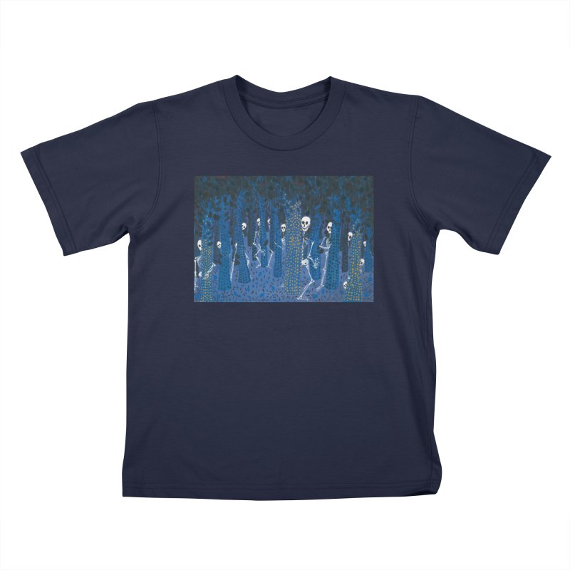 Skeleton Forest Kids T-Shirt by AcrylicArtisan's Artist Shop