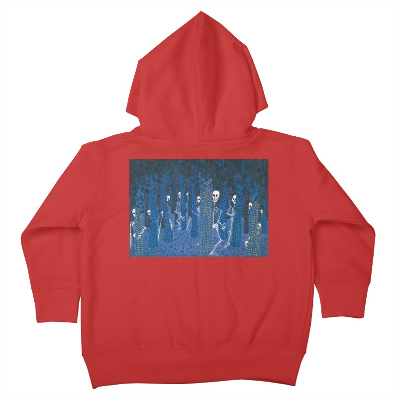 Skeleton Forest Kids Toddler Zip-Up Hoody by AcrylicArtisan's Artist Shop