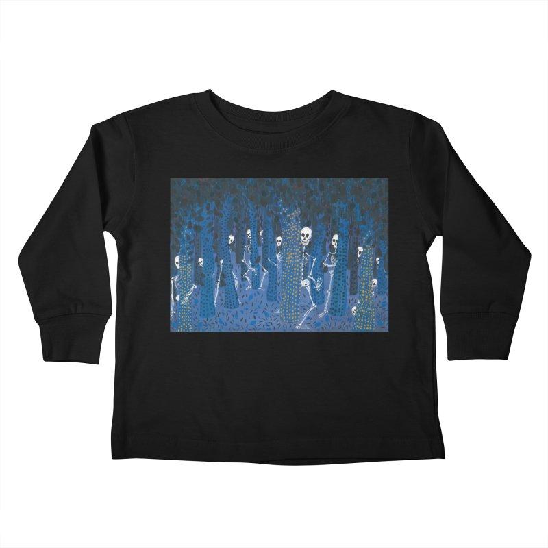 Skeleton Forest Kids Toddler Longsleeve T-Shirt by AcrylicArtisan's Artist Shop