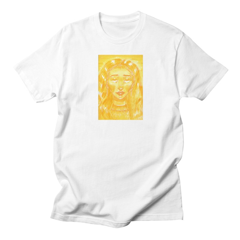 Orange Girl Men's T-Shirt by AcrylicArtisan's Artist Shop