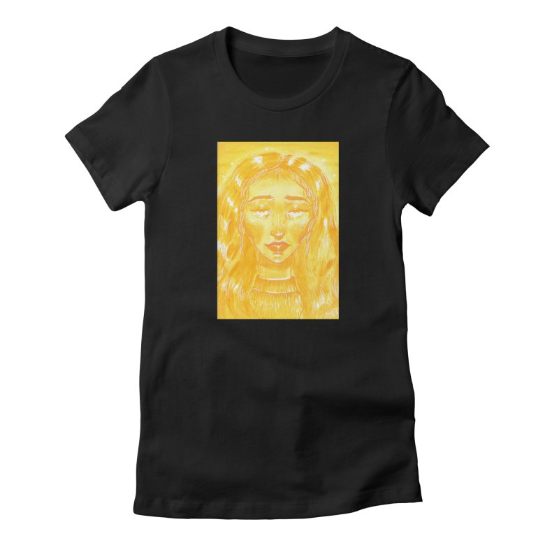 Orange Girl Women's T-Shirt by AcrylicArtisan's Artist Shop