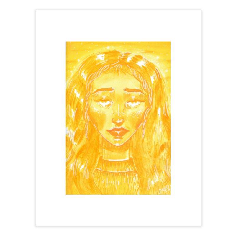 Orange Girl Home Fine Art Print by AcrylicArtisan's Artist Shop