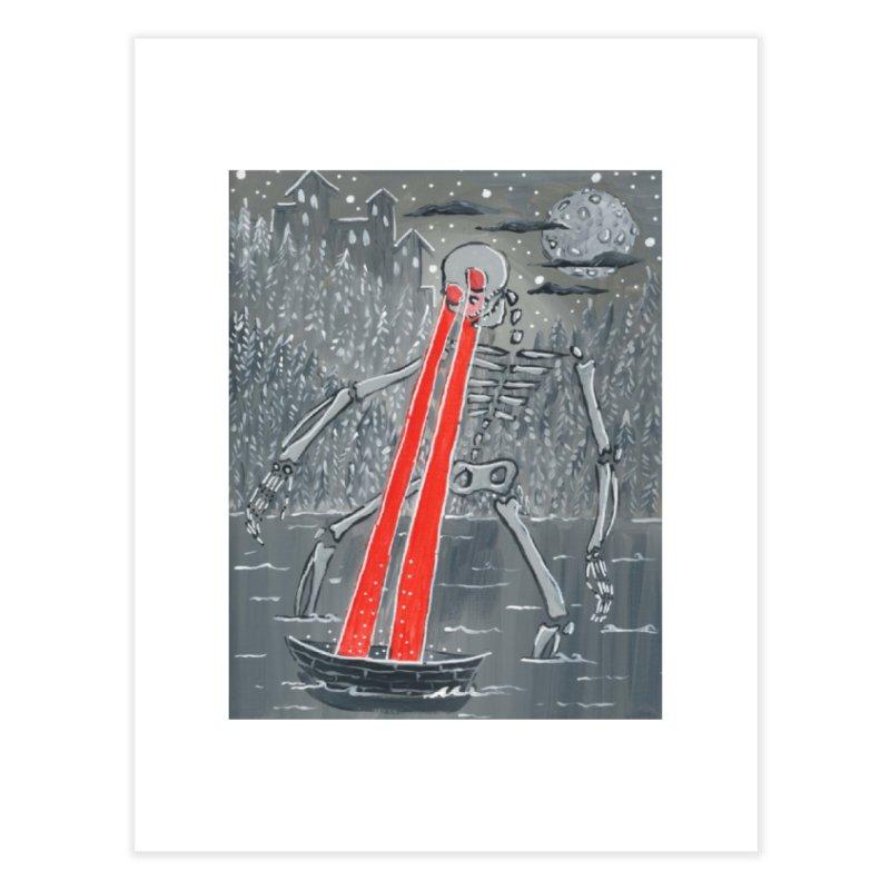 Laser Beam Skeleton Home Fine Art Print by AcrylicArtisan's Artist Shop
