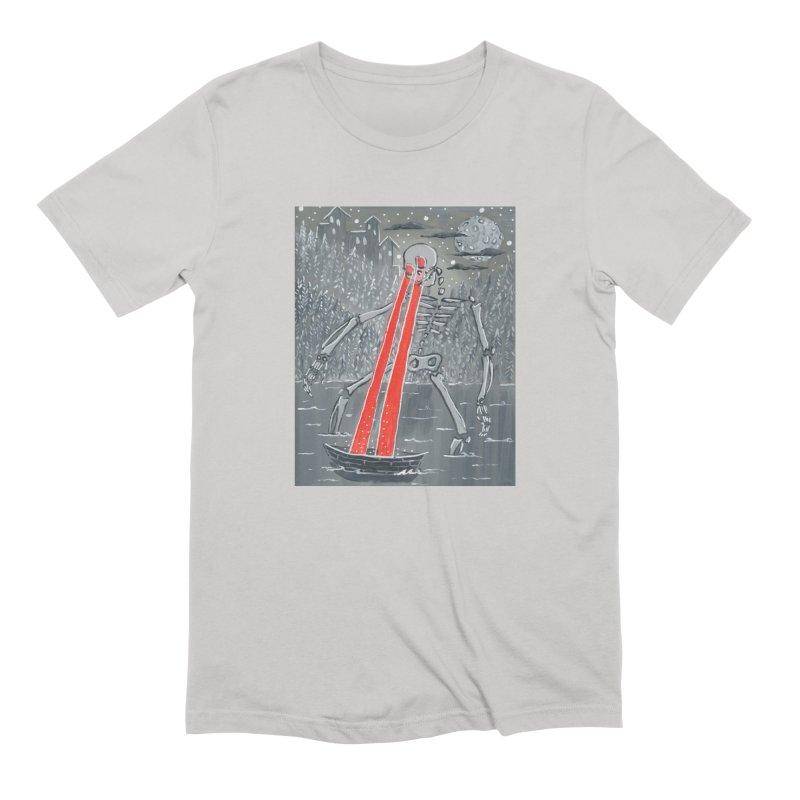 Laser Beam Skeleton Men's T-Shirt by AcrylicArtisan's Artist Shop