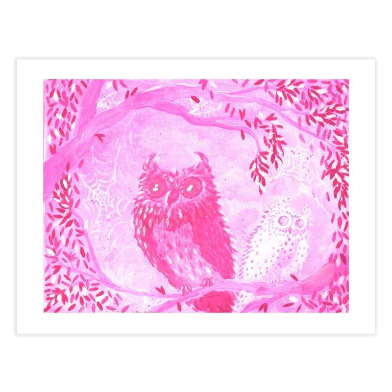 Two Owls Home Fine Art Print by AcrylicArtisan's Artist Shop