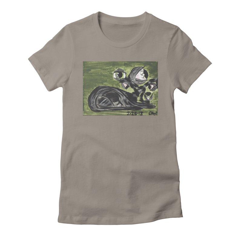 Monster Cat Women's T-Shirt by AcrylicArtisan's Artist Shop