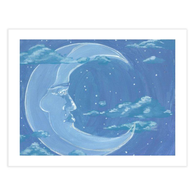 Dreamy Moon Home Fine Art Print by AcrylicArtisan's Artist Shop