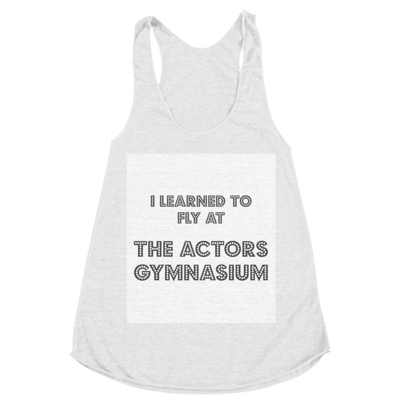 I Learned to Fly Women's Racerback Triblend Tank by The Actors Gymnasium