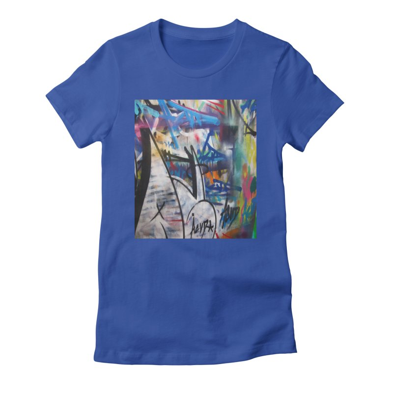 ACUT Graffiti Women's Fitted T-Shirt by Acut's Artist Shop
