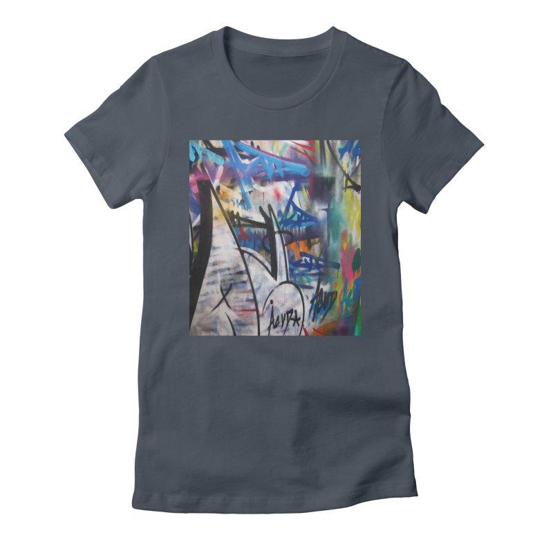 ACUT Graffiti Women's Fitted T-Shirt by Acut's Artist Shop