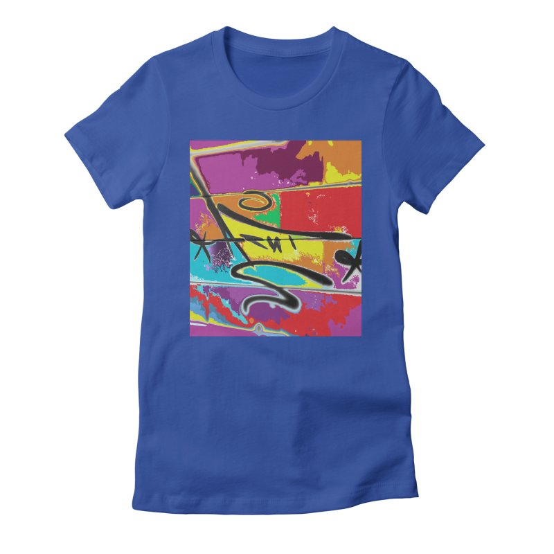 ACUT LOVES TAGS Women's Fitted T-Shirt by Acut's Artist Shop